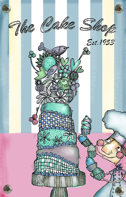 PaperArtsy Zinski Art Set 23 - Elenazinski Art Stamp