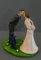 cake topper eleganti coppia bambino realistici artigianali torta nuziale orme magiche