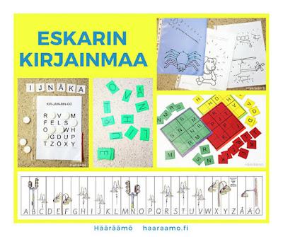 eskarin kirjainmaa, äidinkielen pistetyöskentely