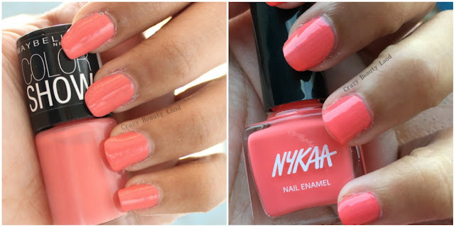 Favorite Summer Pastel Nail Polish Colors Recommendations Coral Craze from Maybelline