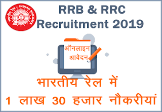 rrb ntpc recruitment - RRC level 1 job 2019 Indian Railway NTPC Jobs