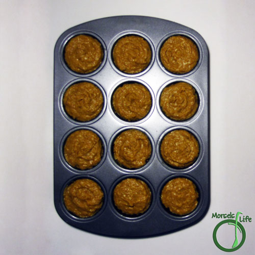 Morsels of Life - Pumpkin Spice Muffins Step 5 - Pour batter into muffin tins and bake at 350F for 15 minutes.