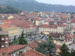 A view of Biella, the town where Cerruti was born, which lies in the foothills of the Piedmontese Alps