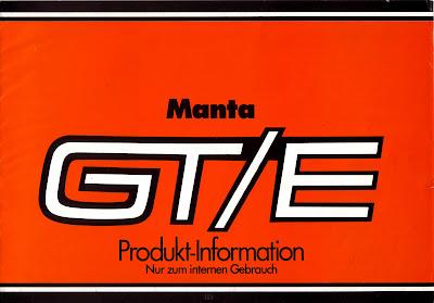 Opel Manta A series GT/E Sales Brochure Page 1