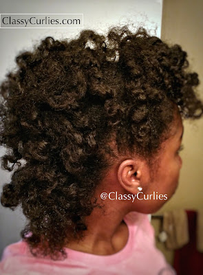 Curly mohawk on natural hair- ClassyCurlies