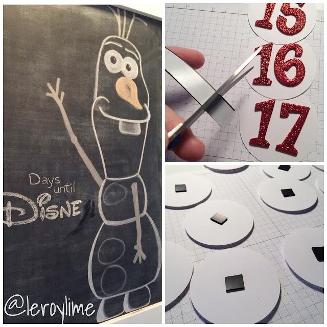 Olaf Disney Countdown - Freehand Chalkboard Lettering and Art - LeroyLime