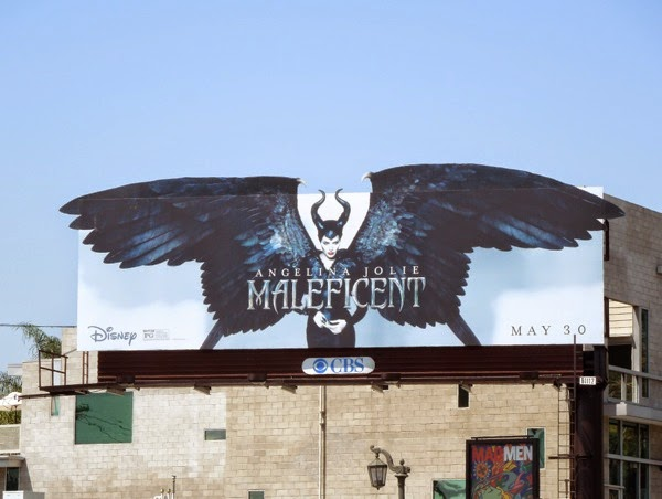 Maleficent movie billboard
