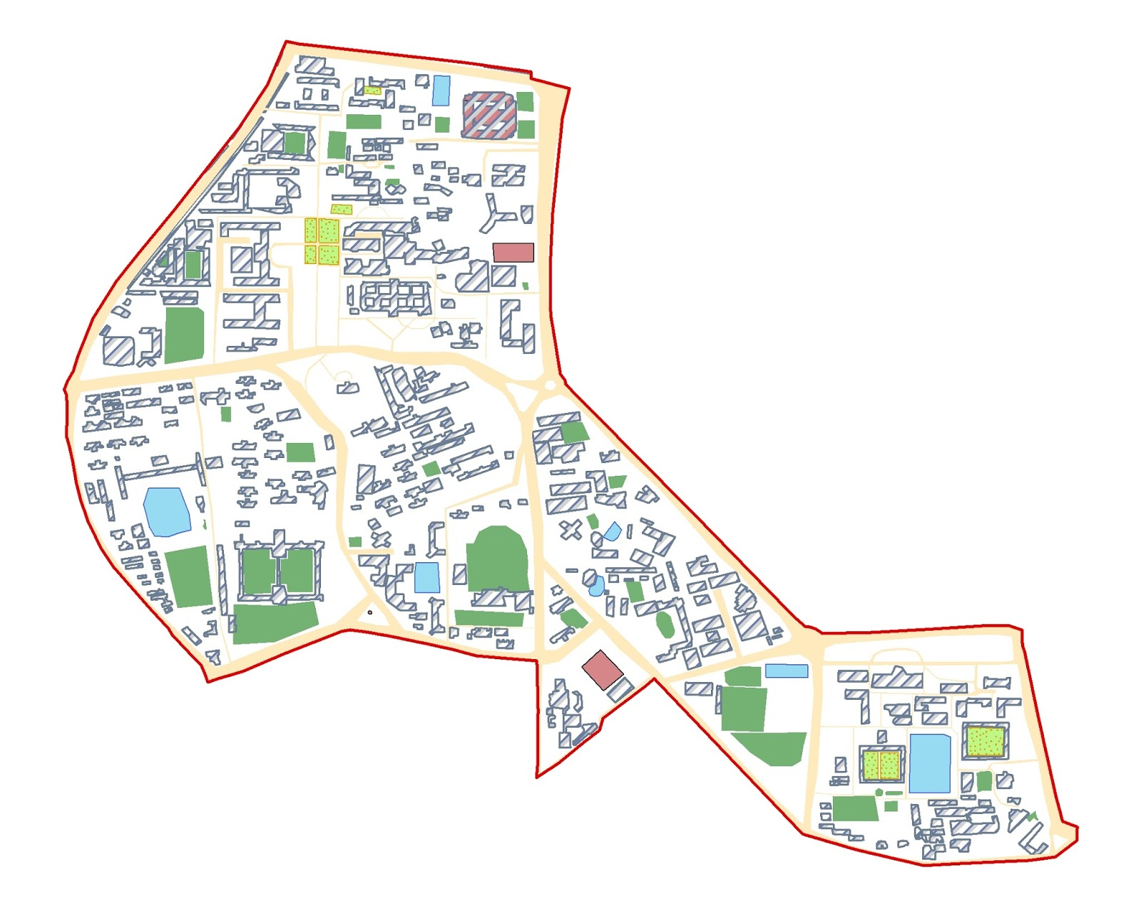 landuse map of dhaka university campus
