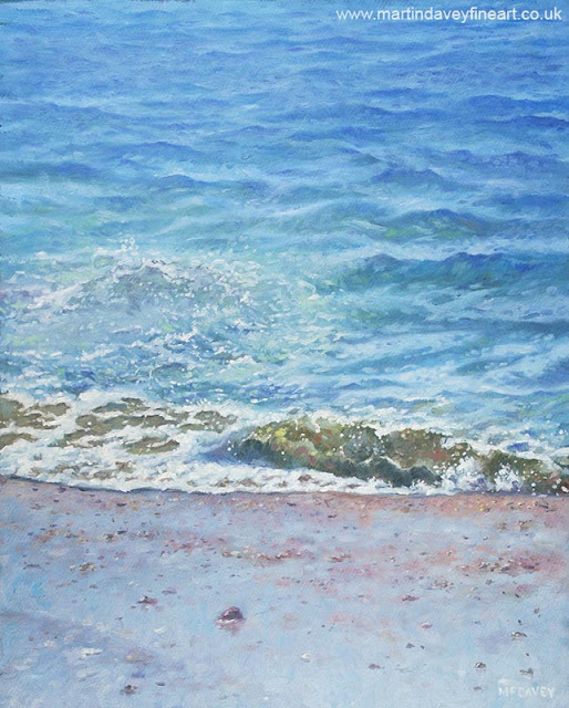 one single wave on sea art by Martin Davey