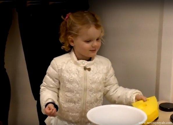 Prince Albert and Princess Charlene, their twins, Prince Jacques and Princess Gabriella visited a mini kindergarten