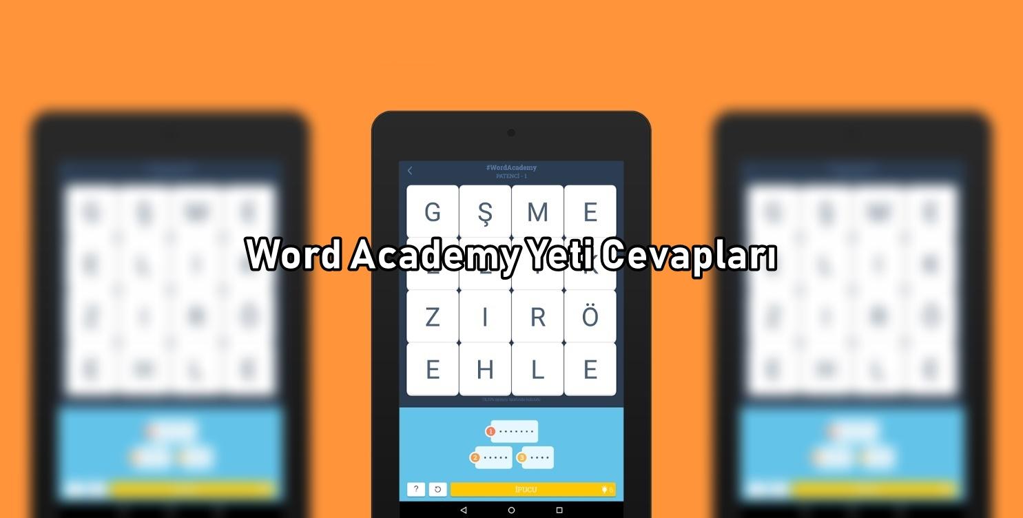 Word Academy Yeti Cevaplari