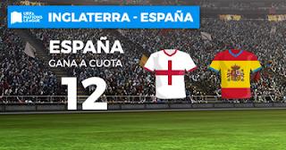 Paston Megacuota España gana a Inglaterra 8 septiembre