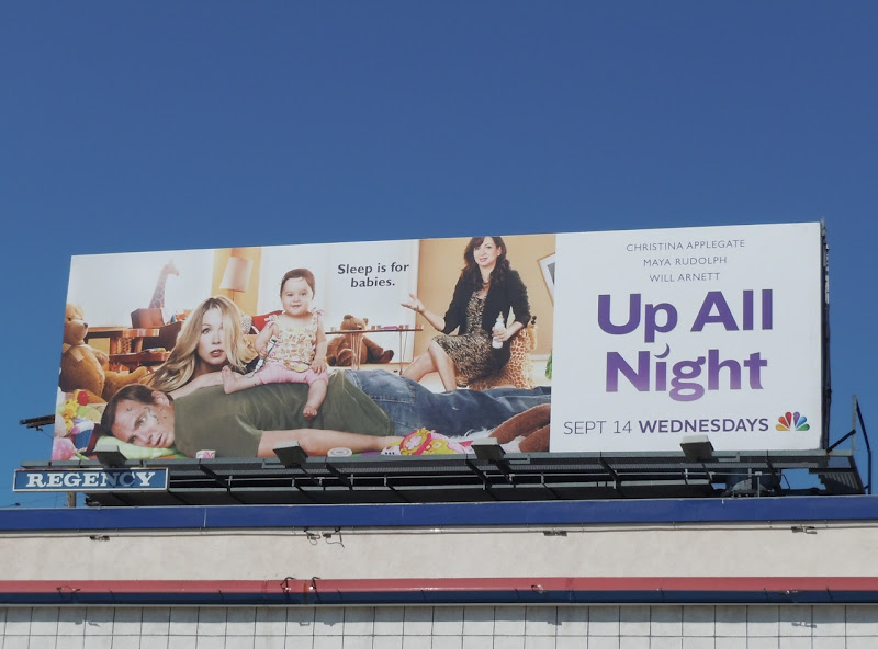 Up All Night TV billboard