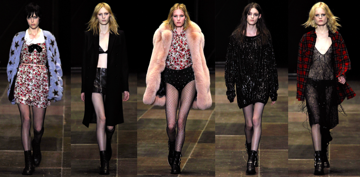 hedi slimane ysl catwalk runway fashion week rtw
