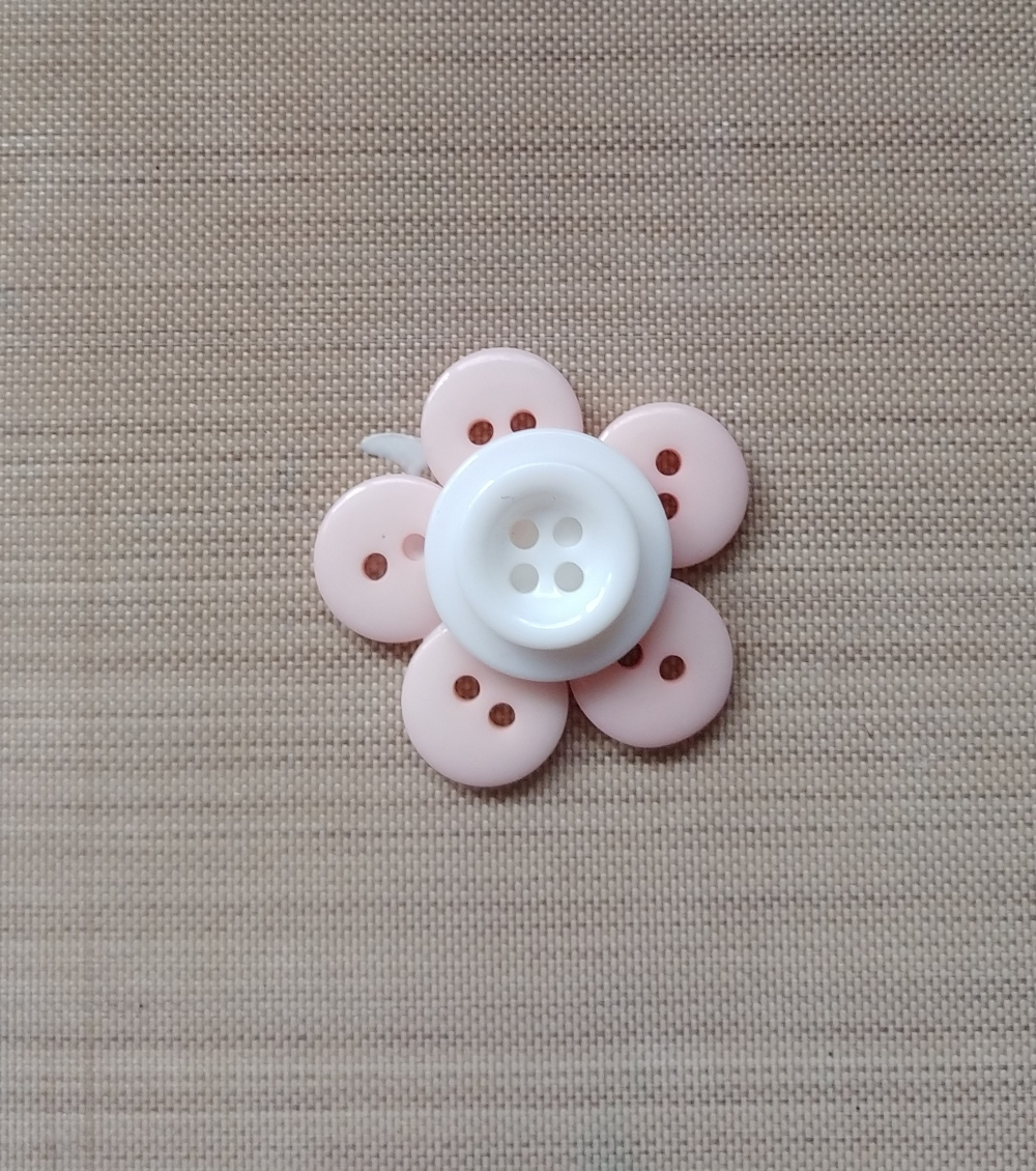 flower made from buttons