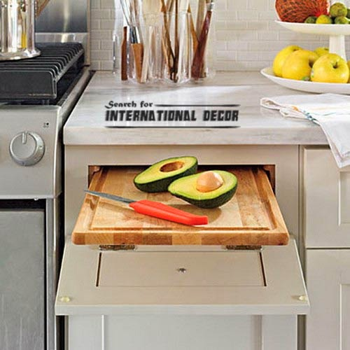 pull out drawers,pull out shelves, Pull-out cutting board