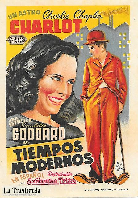 Programa de Cine - Tiempos Modernos - Charles Chaplin - Paulette Goddard