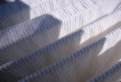 Tuch über einem Wäscheständer