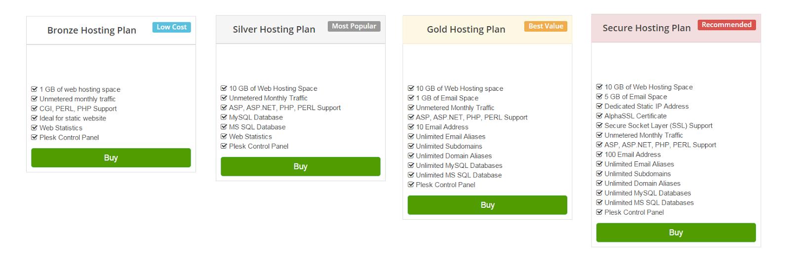 web hosting India plans