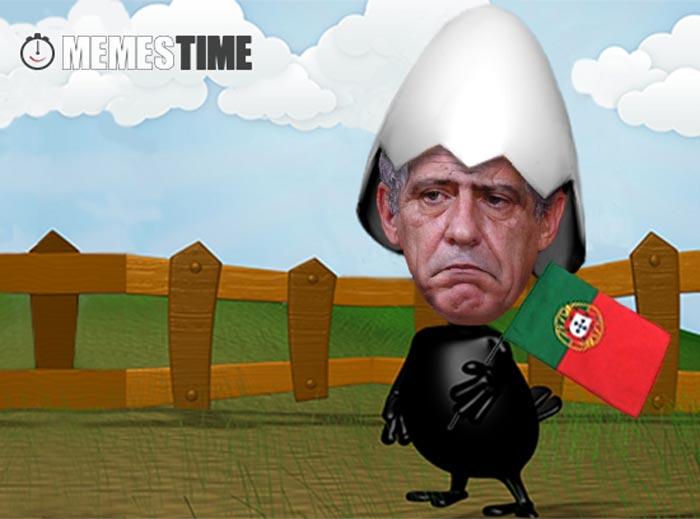 Meme fernando Santos Transformado em Kalimero – Portugal Kalispera com a Taça de Kampeão Europeu?