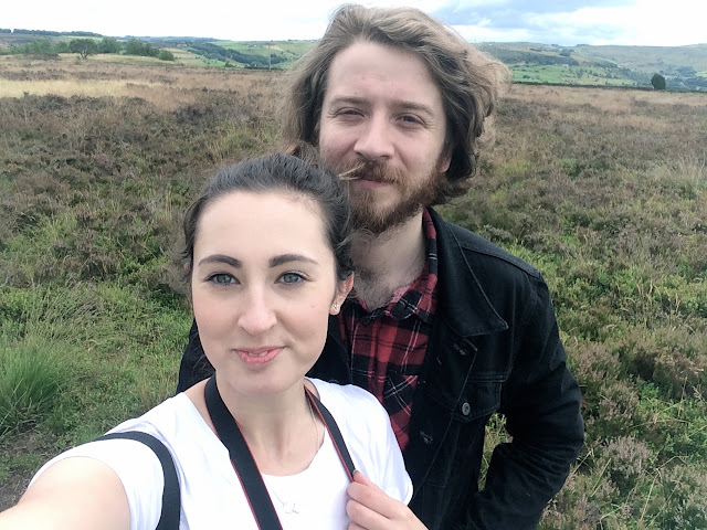 Selfie on the moors, a modern day Kathy and Heathcliff without the drama