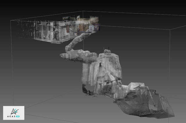 ACAS3D - 3D point cloud model - hypogeum site of Naples Necropoli (Italy)