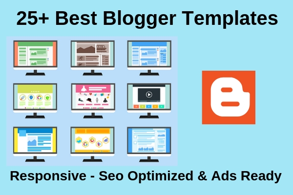 25 Best Free Blogger Templates 2019 Responsive Layout Seo Ready