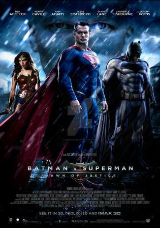 Poster of Batman v Superman Dawn of Justice (2016) BRRip Dual Audio