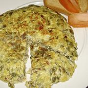 Tortilla de Acelgas con cebolla y queso