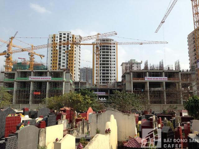 Dự án Việt Đức Complex nhìn từ đường Lê Văn Lương