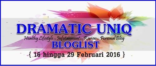 Segmen Bloglist Mac 2016 Bersama DRAMATIC UNIQ