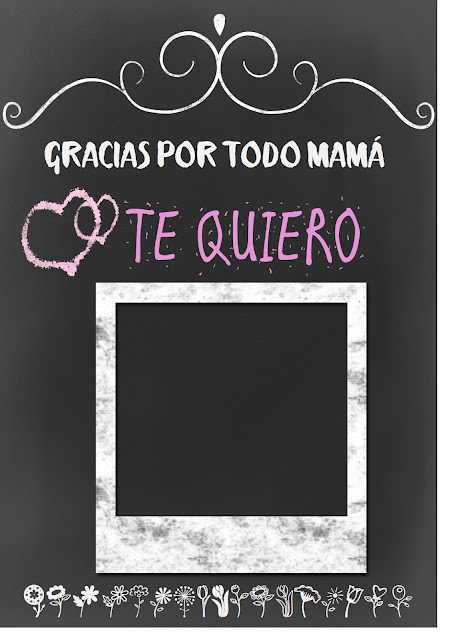 printables, imprimibles, dia de la madre, watercolor, pizarra, regalo