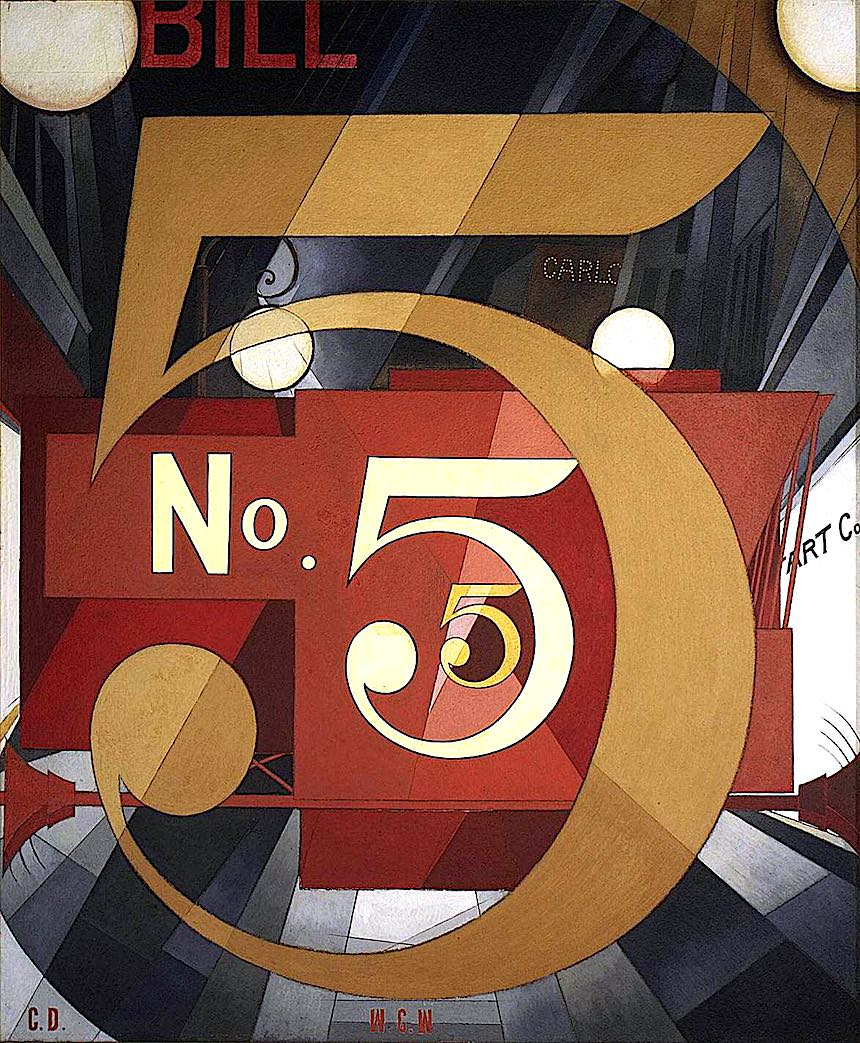 Charles Demuth No. 5 painting