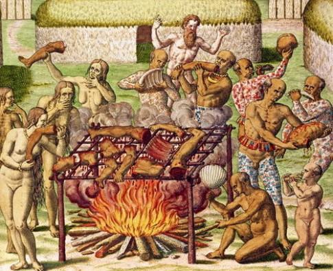أمثلة تاريخية عن أكلي لحوم البشر: