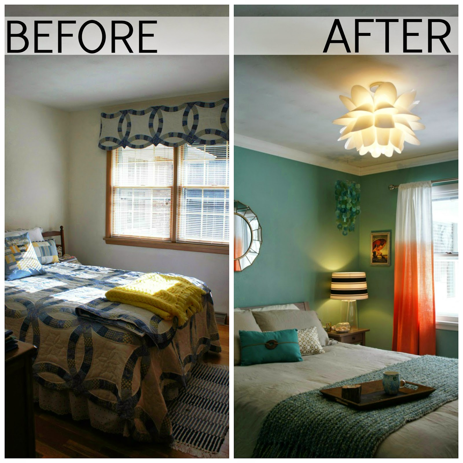 Living In Yellow Guest Bedroom Before And After
