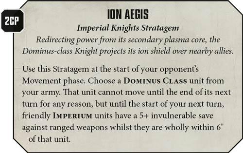 Estratagemas Caballeros Imperiales