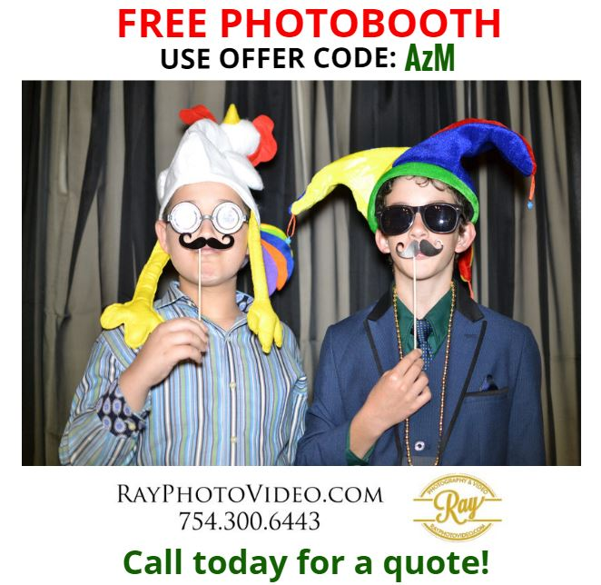 Call and use code : AzM for a free photo booth with your event!