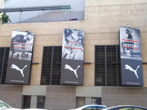Puma training apparel billboards