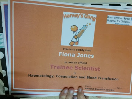 Great Ormond Street Hospital have their Harvey's Gang practice tour with the lovely Fiona