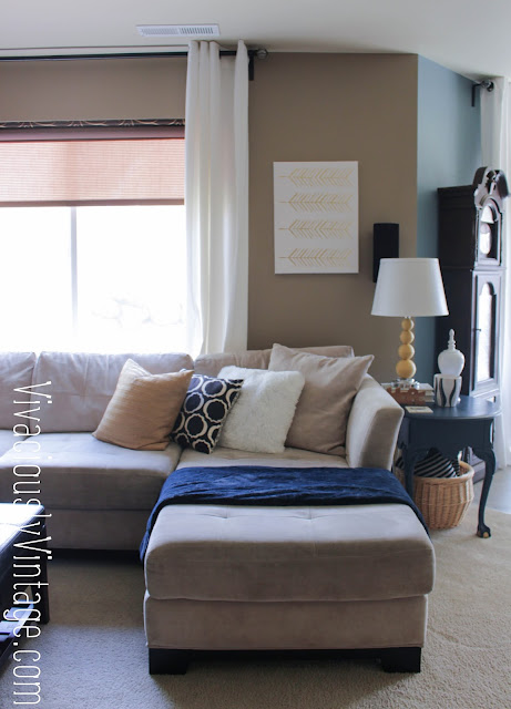 White Living Room Curtains + Curtain Hanging Tips!