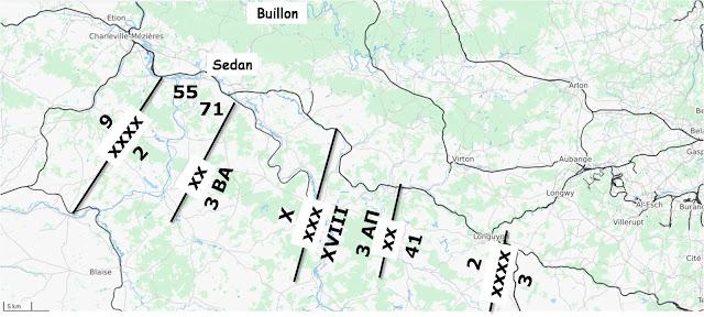 Ο τομέας της 2ης Γαλλικής Στρατιάς