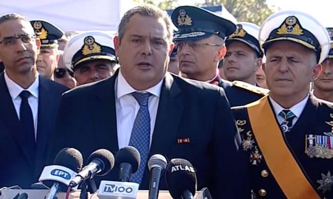 «Καμμένε παραιτήσου!»: Αποδοκιμάστηκε ο υπουργός Εθνικής Άμυνας στη Θεσσαλονίκη (vid)