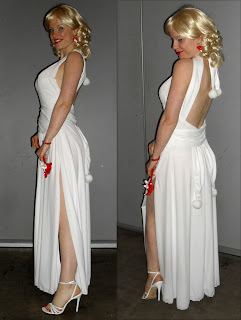 Harley Quinn white formal dress gown