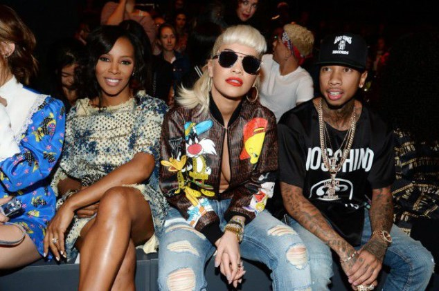 New York Fashion Week: Tyga without Kylie with Rita Ora