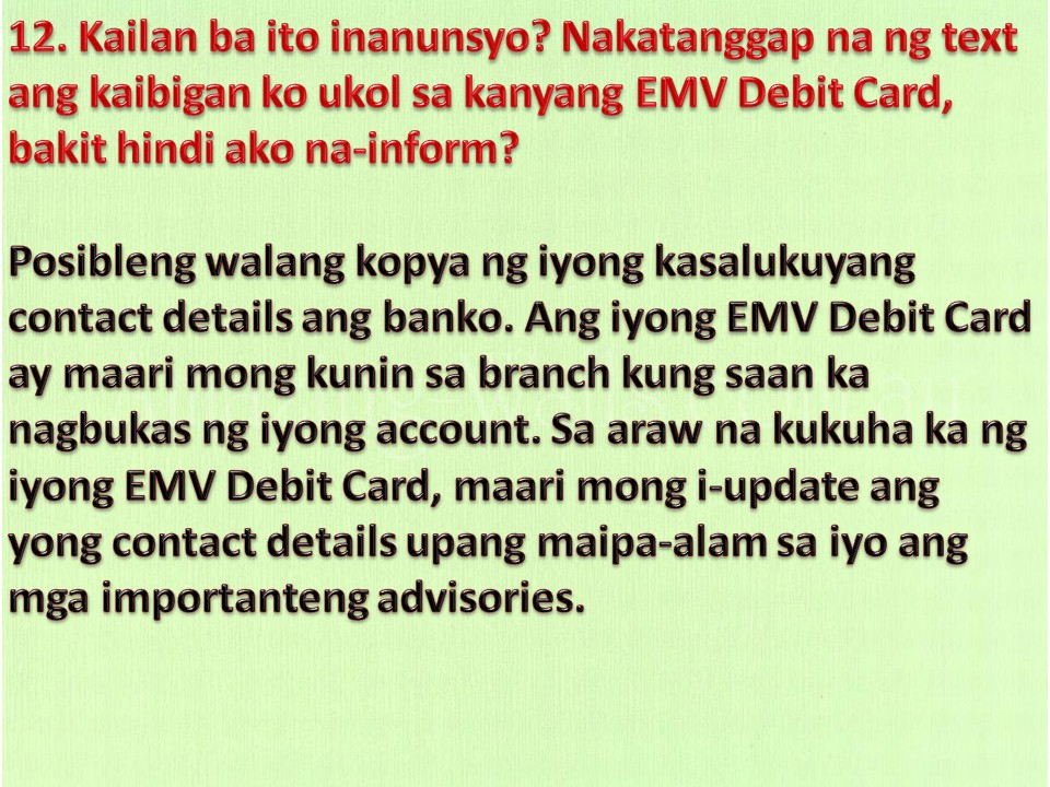 how to know the branch addres of my card