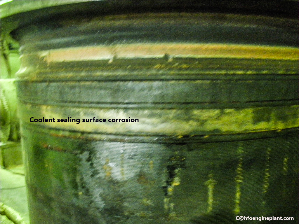 Cylinder liner corossion by jacket cooling water
