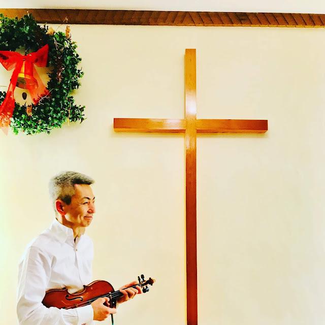 喜多直毅:2019年1月27日おとがたり『幸福の王子』終演後のスナップ 日本基督教団板橋大山教会にて