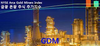 미국 주식 : GDM 금광 은광 주식 주가지수 차트, 월간 주간 일간 그래프, NYSE: GDM, Arca Gold Miners Index Chart