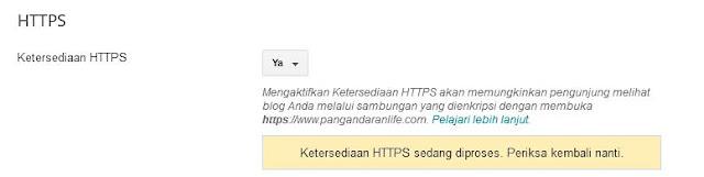 cara terbaru mengaktifkan https di blogger untuk costum domain