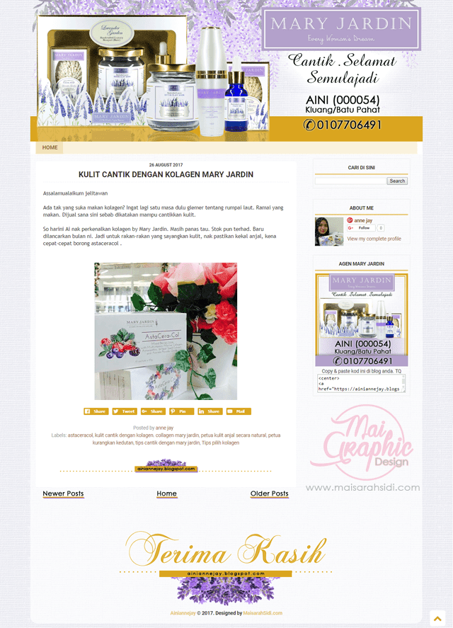 servis design blog murah